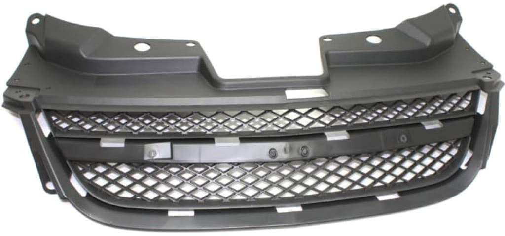 For Chevy Cobalt Grille Assembly 2008 2009 2010 | Upper | Textured Gray Shell & Insert | w/o Supercharger | SS Model | Plastic | GM1200635 | 25820008