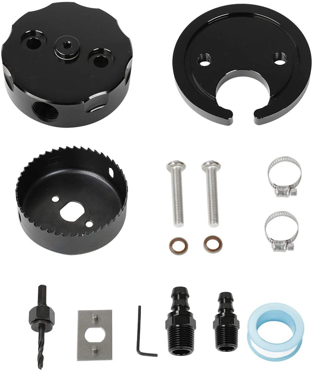 SUPERFASTRACING Diesel Parts Fuel Tank Gas/Diesel Sump for FASS AirDog Fuelab Black