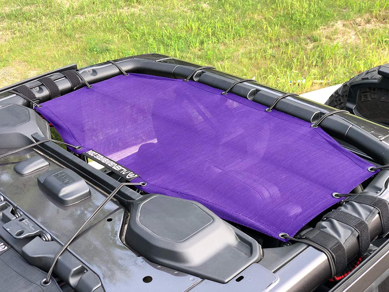 ALIEN SUNSHADE Jeep Wrangler JLU (2018-Current) Rear Sun Shade Mesh Top Cover (Purple) – 10 Year Warranty – Blocks UV, Wind, Noise