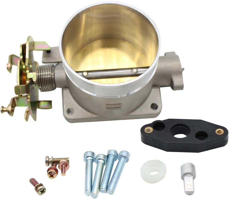 Throttle Body 75MM Direct Replacement Compatible for 96-04 FORD MUSTANG GT 4.6L OEM Polished Surface