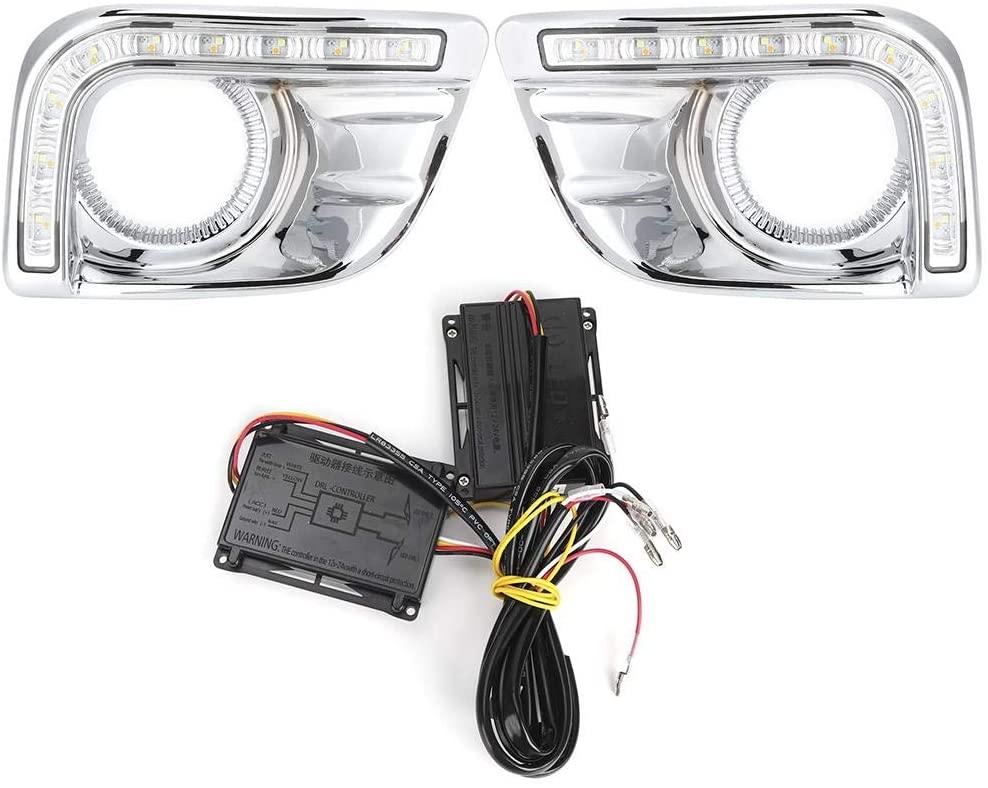 Daytime Running Lights, 2pcs LED Daytime Running Light Fog Lamp Fit for Toyota Prado 2700 LC FJ150 2010-2013