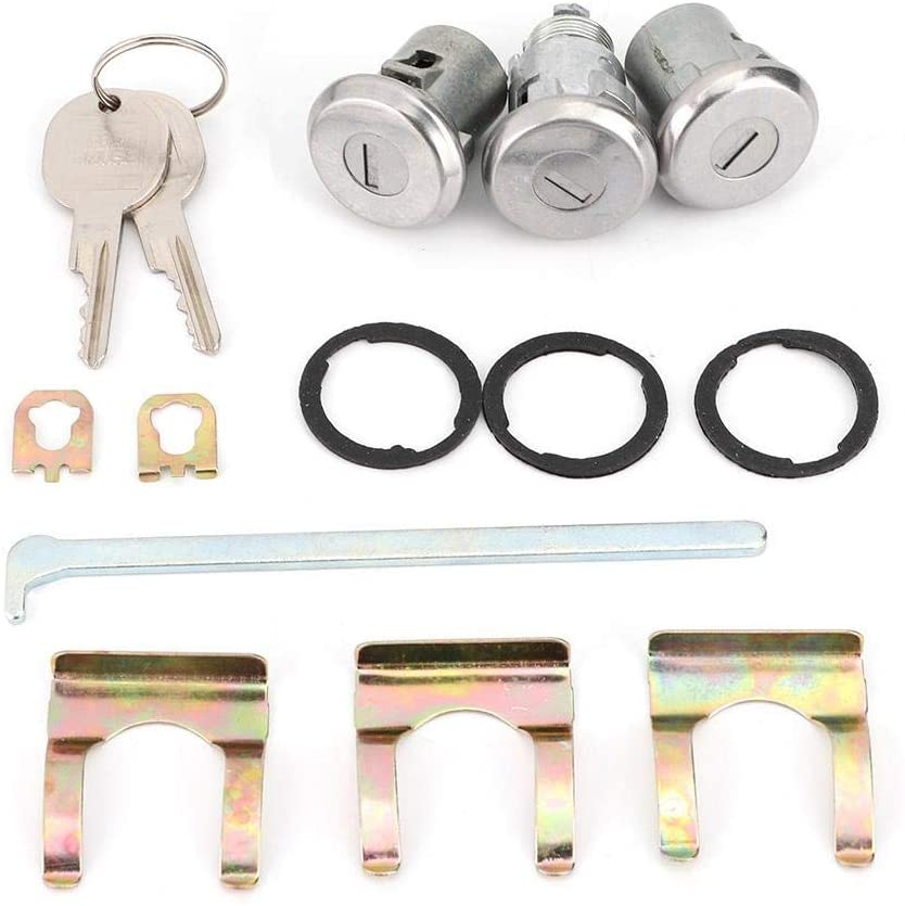 Door Trunk Key, Premium Cutlass Lock Set Door Trunk Key Kit 654394765282 Replacement Fits for Chevelle