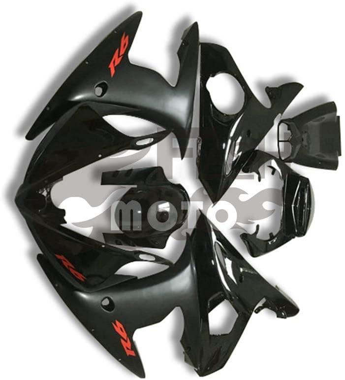 FlashMoto Fairings for Yamaha YZF-600 R6 2003 2004 Painted Motorcycle Injection ABS Plastic Bodywork Fairing Kit Set Black