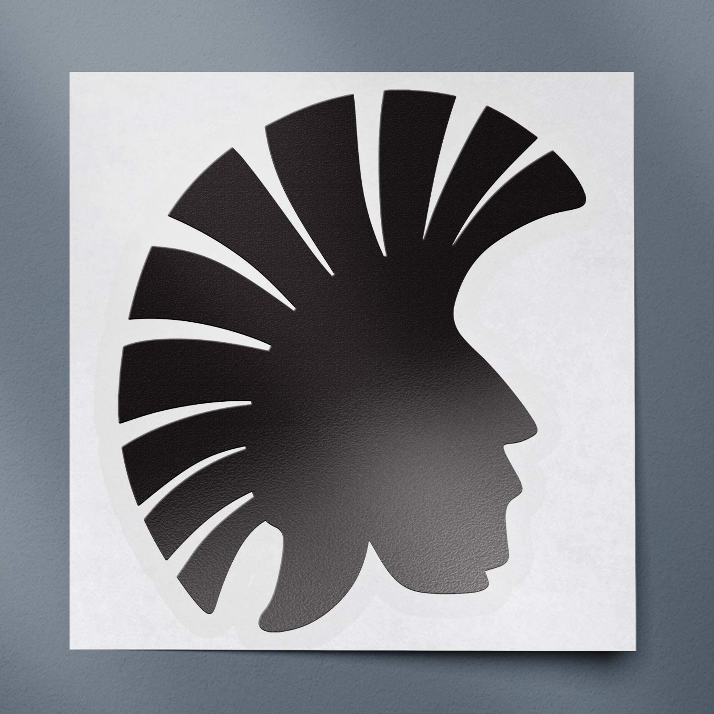 USC DECALS Trojan Head Silhouette Funny (Black) (Set of 2) Premium Waterproof Vinyl Decal Stickers for Laptop Phone Accessory Helmet Car Window Bumper Mug Tuber Cup Door Wall Decoration