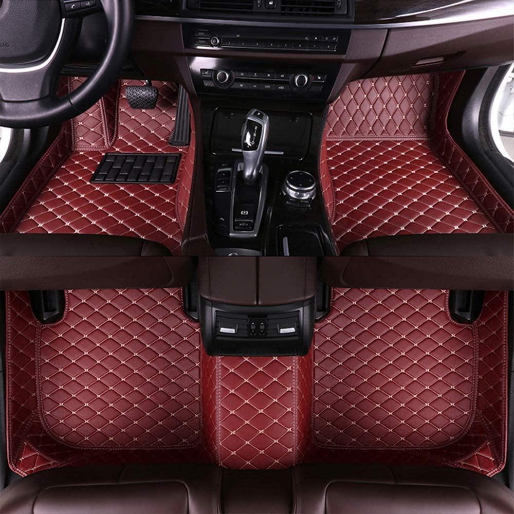 Maite Custom Car Floor Mat Fit for Audi TT 4seat 2015-2017 Full Surrouded XPE Leather Waterproof Carpets Mats Red wine