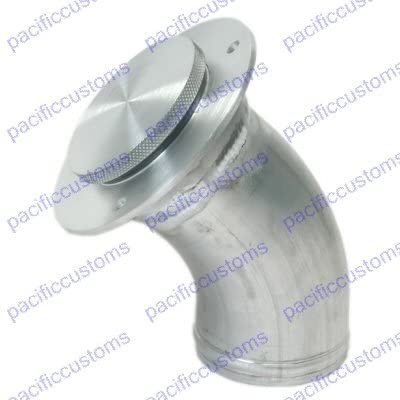 Machine Finish Low Profile Angeled Remote Filler Neck For 2.25 Inch Fuel Hose