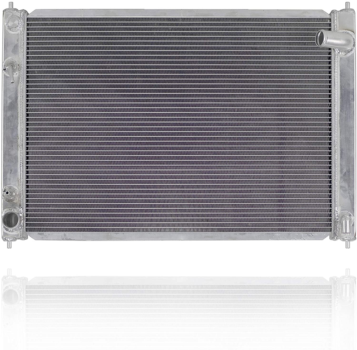Radiator - PACIFIC BEST INC. For/Fit 08-13 Infiniti G37 07-08 G35 11-12 G25 10-18 370Z 14-15 Q60-Convertible Automatic Transmission - All-Aluminum With Bracket - 21460JK90B