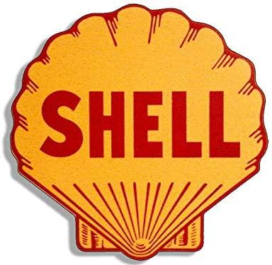 Magnet 4x4 inch Vintage Shell Logo Shaped Sticker - Gas Sign Rat Rod Motor car Gasoline Magnetic Magnet Vinyl Sticker