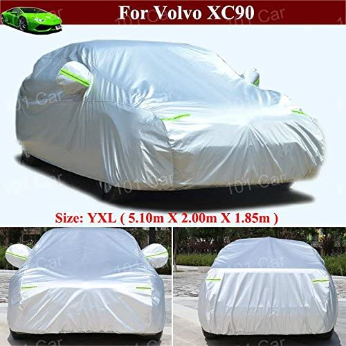 Tiantian Full Car Cover All Weather Indoor/Outdoor Full Car Cover SUV Car Covers for Volvo XC90 2009-2018 2019 2020 2021