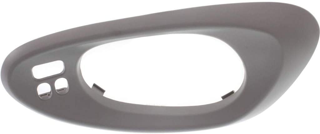 For Chevy Trailblazer EXT Door Handle Trim 2002 03 04 05 2006 Driver Side | Front | Inside | Textured Gray | Bezel Only | w/Hole | w/Convenience Package | 25894592