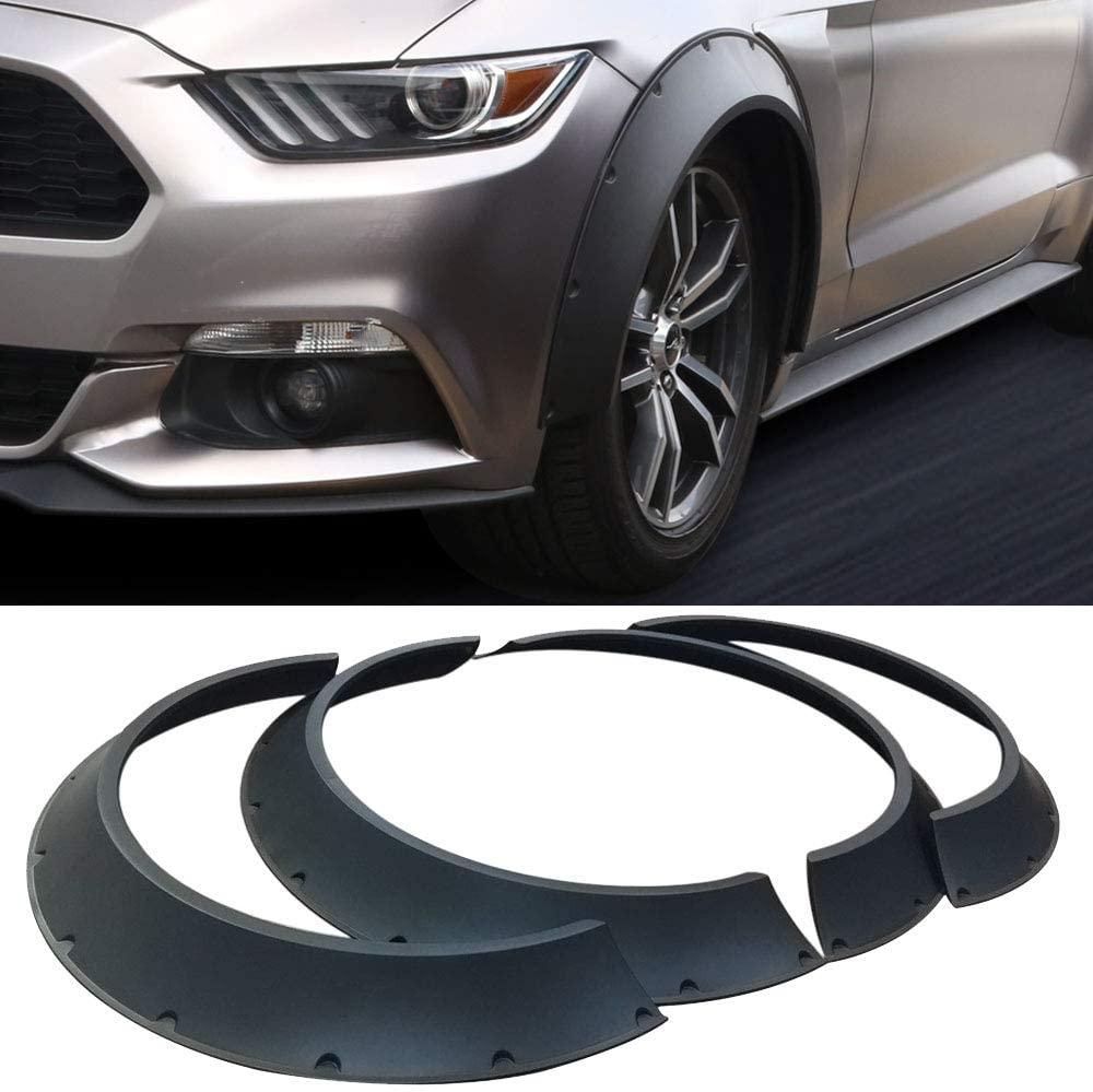 New School 4Pcs 800mm Universal Car Fender Flares Wheel Arches Black Car Accessories