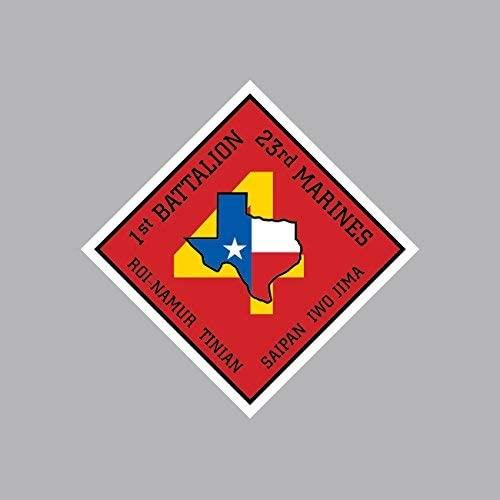 1st Battalion 23rd Marine Regiment USMC Outline Sticker Vinyl Decal Sticker Made in USA