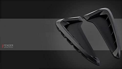 Eppar New Decorative Fender Scoop 2PCS for BMW X5 F15 2014-2017 (Black)