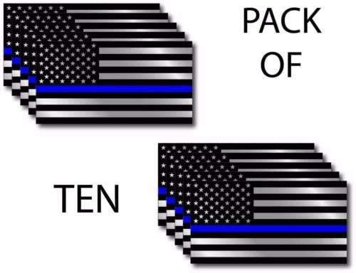 Police Officer American Flag Blue Line Lives Vinyl Decal Sticker Car Decal Bumper Sticker for Use on Laptops Windowson Water Bottles Laptops Windows Scrapbook Luggage Lockers Cars Trucks