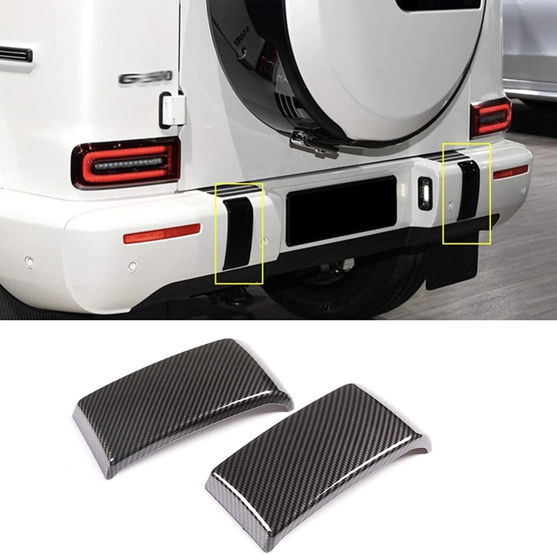 Car Rear Bumper Protection Trim Strip Carbon Fiber 2 pcs, fit for Mercedes-Benz G-Class 2019 2020 (Not fit for G63)
