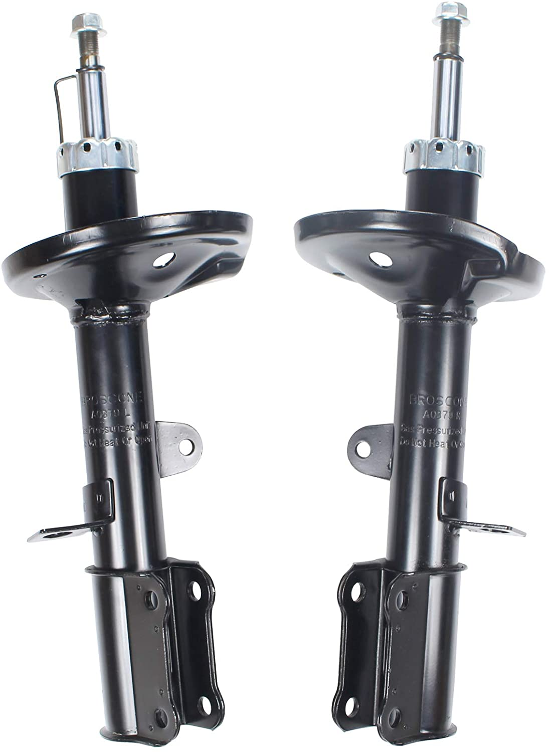 BROSCONE A0379 2 Pieces 1 Pair Suspension Rear Shocks Struts Assembly Compatible with 1999 2000 2001 2002 Prizm