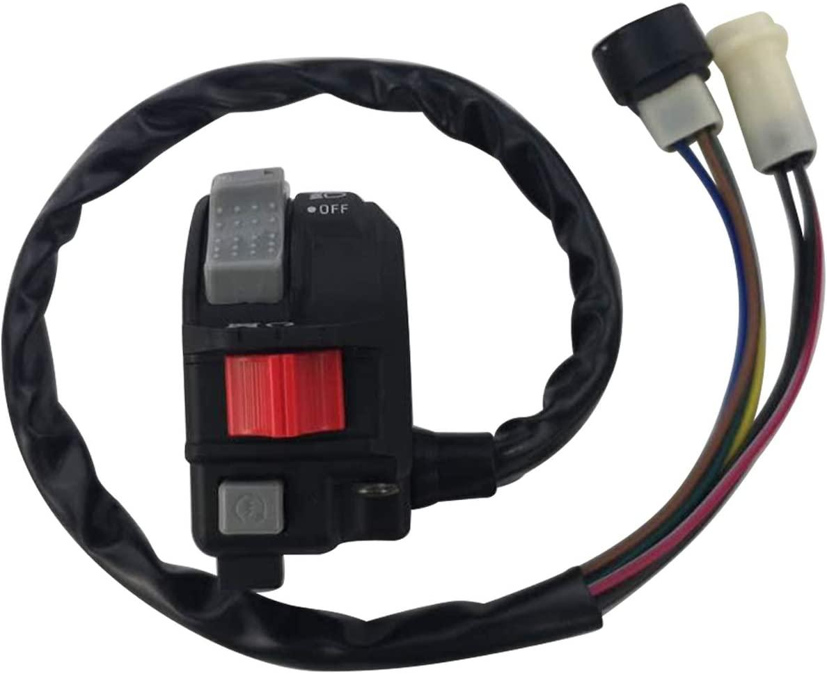 M MATI Left Handlebar Control Engine Start Run Off Headlight Switch 59V-83973-09-00 for Yamaha Big Bear 350 YFM350F MOTO-4-YFM225/YFM250/YFM350 Warrior 350 YFM350X 1987-1995