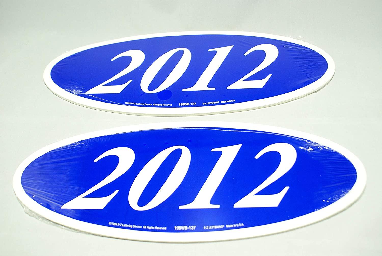 Great Link Oval Model Year Windshield Dealer 2 Dozen Stickers Blue/White Window Sticker Car Lot (B/W 2012)