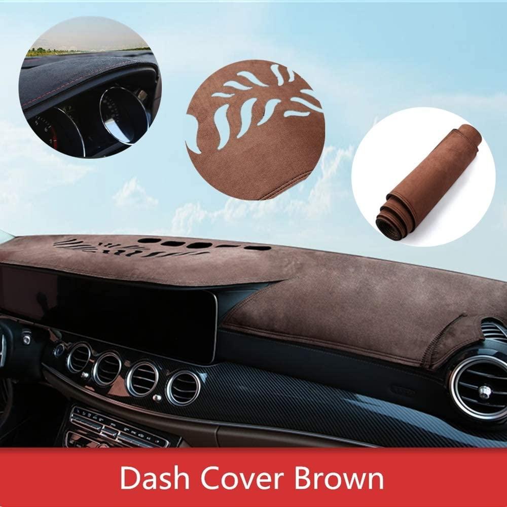Dashboard Cover for Audi Q3 2015-2018 Original Car Custom Dash Mat Anti Reflective Heat Resistant Dash Carpet Leather Brown
