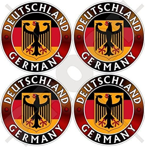 GERMANY DEUTSCHLAND Flag-Coat of Arms German Eagle, Deutsch 50mm (2
