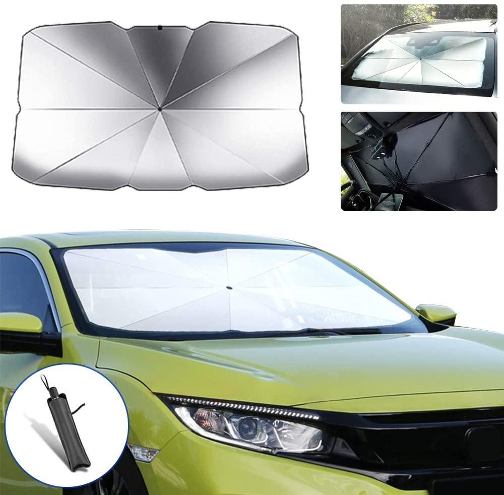 saitake Car Windshield Parasol Sun Shade for Citroen C6 Sun UV Protection Lightweight and Portable Umbrella Type 145cm79cm