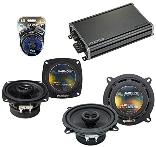 Compatible with Toyota Paseo 1992-1995 Factory Speaker Replacement Harmony Audio Bundle R4 R65 & CXA360.4 Amp