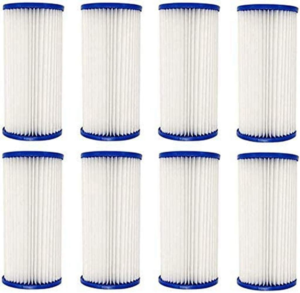 CXLL Swimming Pool Filter Foam Cartridge for Above Ground Swimming Pool, Washable Type A/C Filter Sponge Cleaner for Pool, Pool Filter Cartridge Pool Filter Pumps - (6 Pack)