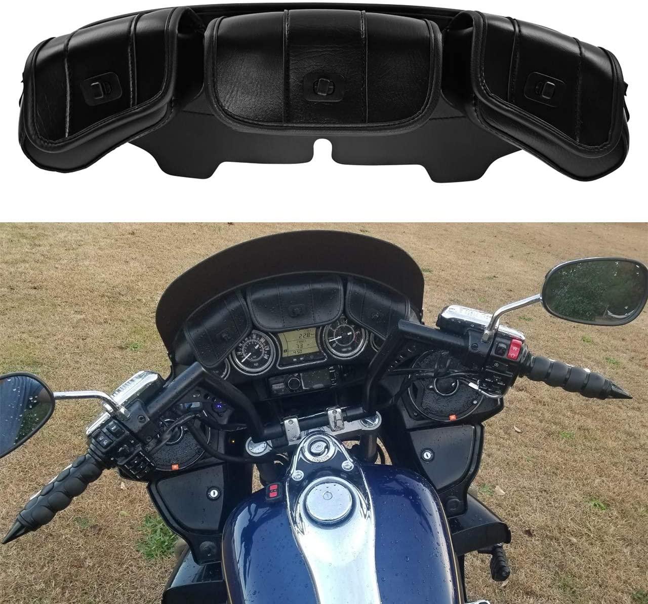 YHMTIVTU Windshield Saddle Pouch Bag Fits for Harley Touring Electra Street Glide Trike Models FLHT FLHTC FLHX FLHTK FLHTCU FL Trike 1996-2013