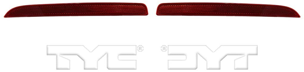 For 2016-2018 Ford Explorer Pair Driver and Passenger Side Rear Bumper Reflector CAPA Certified With FO1184109 FO1185109 - Replaces FB5Z 15A449 A FB5Z 15A449 B ;