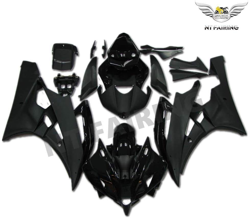 NT FAIRING Glossy Matte Black Injection Mold Fairing Fit for Yamaha 2006 2007 YZF R6 New Painted Kit ABS Plastic Motorcycle Bodywork Aftermarket