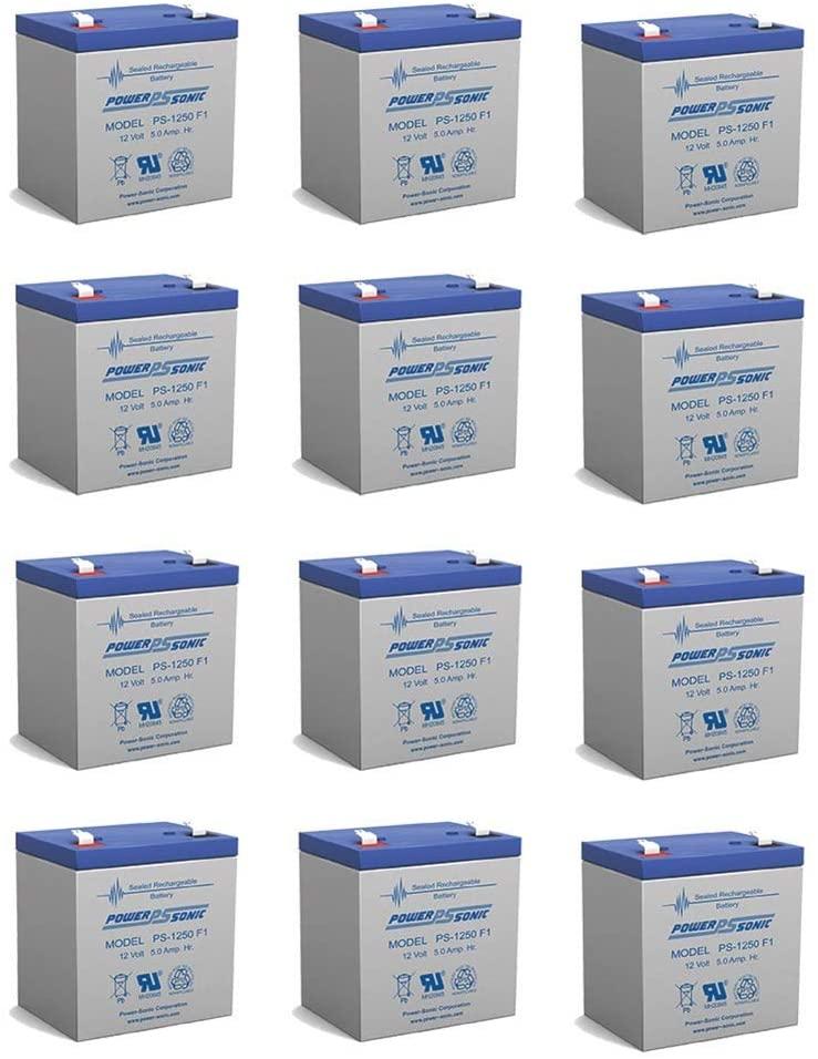 12V 5Ah UPS Battery for Securitron MINIMAG LOCKS - 12 Pack