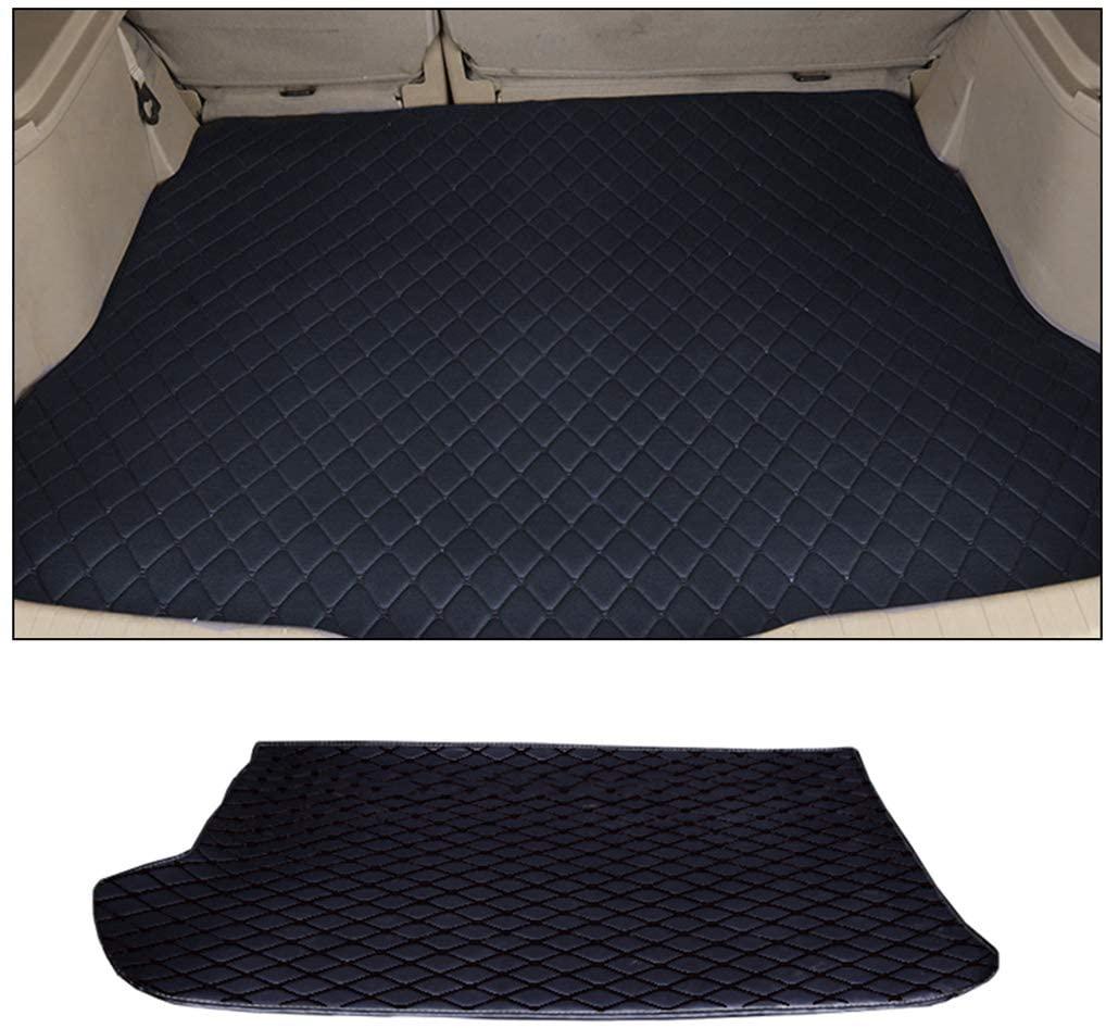SLONG for Honda Fit Jazz 2004-2007 Custom Car Trunk Mat All Weather Cargo Liner Heavy Duty PVC Leather Non-Slip Pet Mats Black