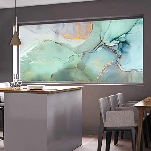 ViLJe Decorative Privacy Glass Window Films, Office Decorative Privacy Window Film Stained Marble Static Glass Sticker Kitchen Bedroom Move Door Home Decor Decal