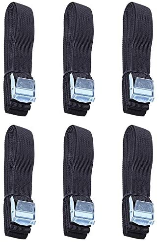 6Pcs Kayak Roof Rack Lashing Straps with Buckle for Boat Bike Motor Cargo Tie Down Car Roof Rack Luggage Kayak Carrier Rope