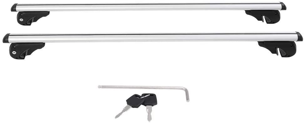 Ejoyous Roof Rack Crossbars, 130cm/51inch Aluminum Universal Roof Rack Cross Bars Lockable Rail Luggage Carrier with Width Adjustable Mounting Clamps for Car Vehicles SUVs