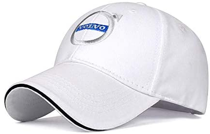 JDclubs Volvo Logo Embroidered Adjustable Baseball Caps for Men and Women Hat Travel Cap Car Racing Motor Hat (White)