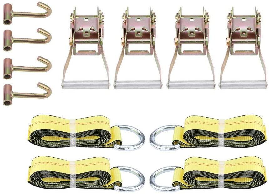 12pc Lasso Straps, LassoLiftingStraps Wheel Lift Strap Ratchet Lasso Straps with Hook