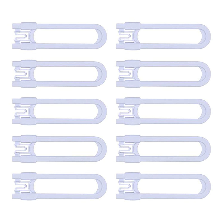 Sliding Cabinet Child Safety Locks-Grandoto U Slide Door Locking for Childproof Safe Latch & Baby Proofing Lock for Wardrobe,Kitchen,Bathroom,Drawer,Fridge,Cupboard Doors Knobs & Handles(10Pack White)