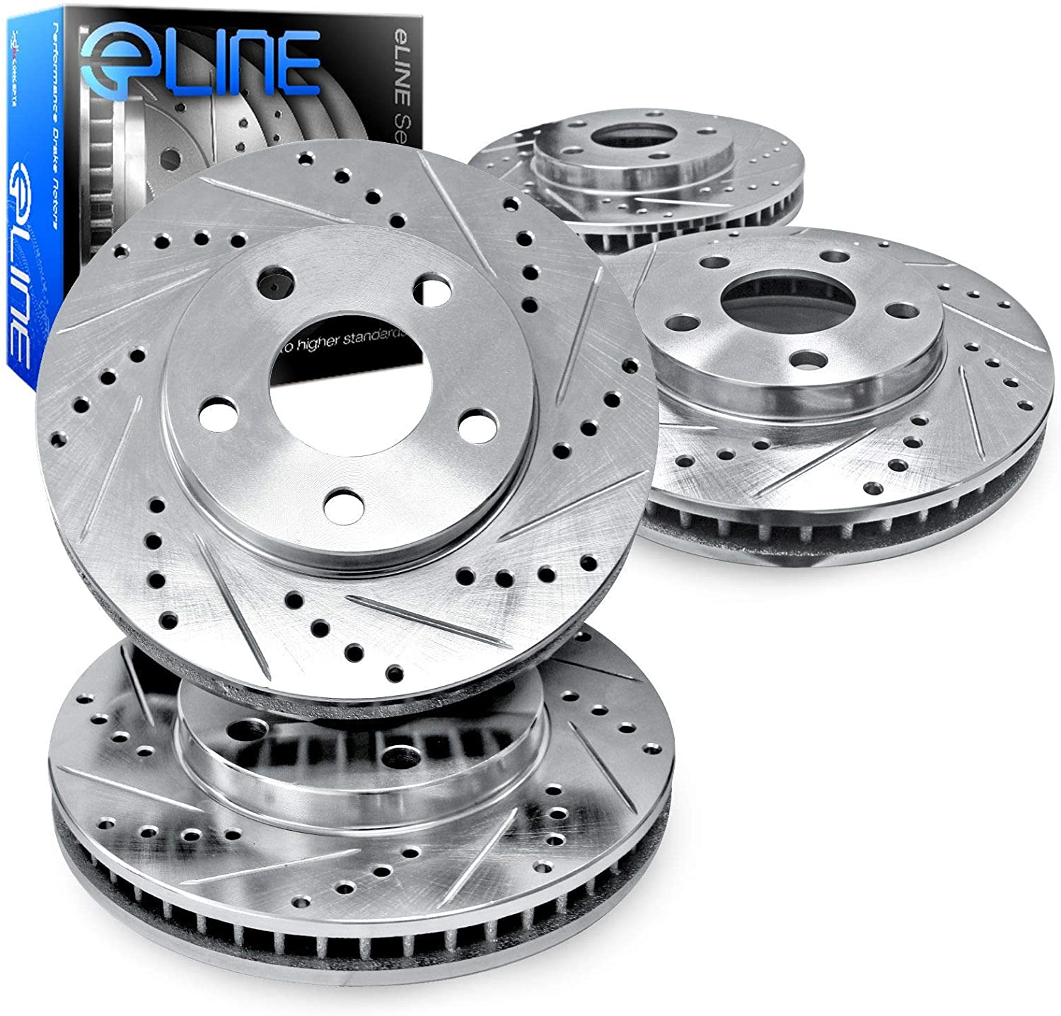For 1984-1988 Nissan 300ZX,200SX R1 Concepts eLine Front Rear Brake Rotors Kit