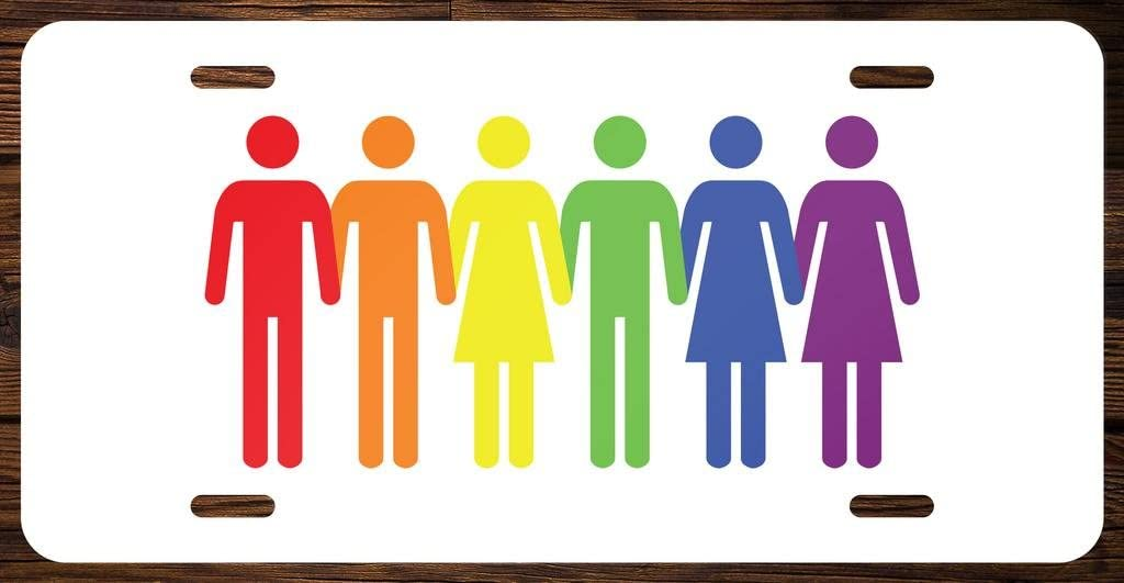 Diversity Rainbow Vanity Front License Plate Tag Printed Full Color KCFP035