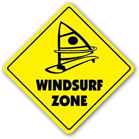 1080 Graphics Windsurf Zone Sign Decal Sticker New Sign Decal Stickers surf Board Windsurfing sail Windsurfer sail