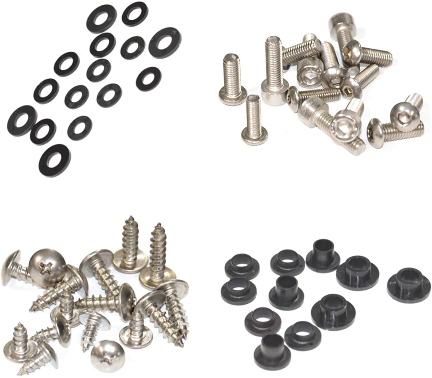 Standard Motorcycle Fairing Bolt Kit For Kawasaki Ninja ZX-10R 2004-2005 Body Screws, Fasteners, and Hardware