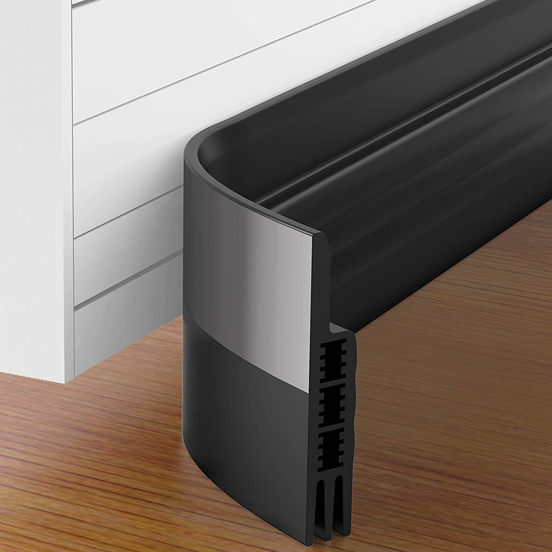 GroTheory 2 Pack Door Draft Stopper, Under Door Draft Blocker, Soundproof Door Sweep Weather Stripping for Doors, 2