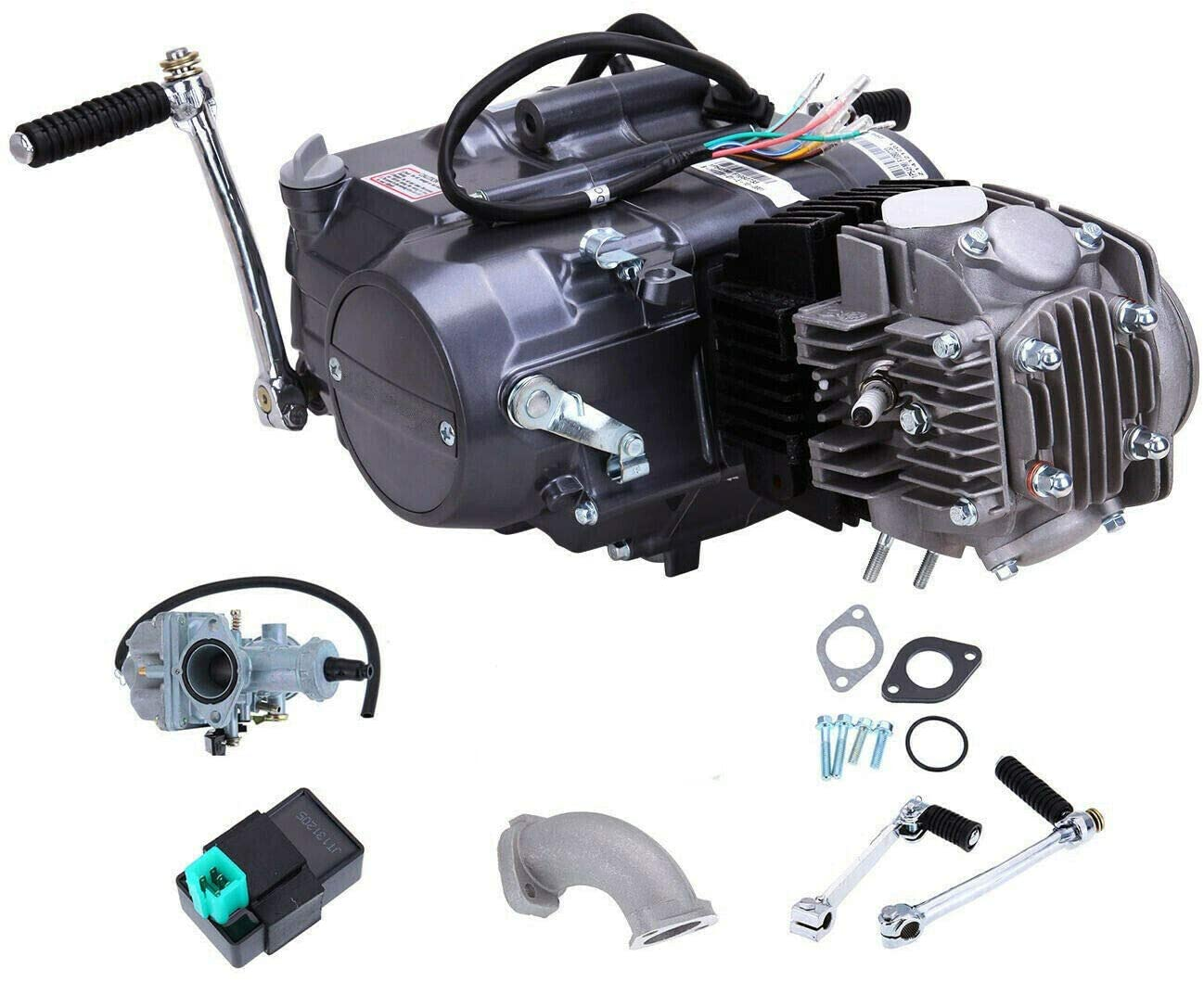 125CC 4 Stroke Engine Motor Manual Clutch Pit Dirt Bike ATV Quad CDI Motor Engine Complete Kit Fits for Honda CRF50 CRF70 XR50 XR70 Z50 Z50R