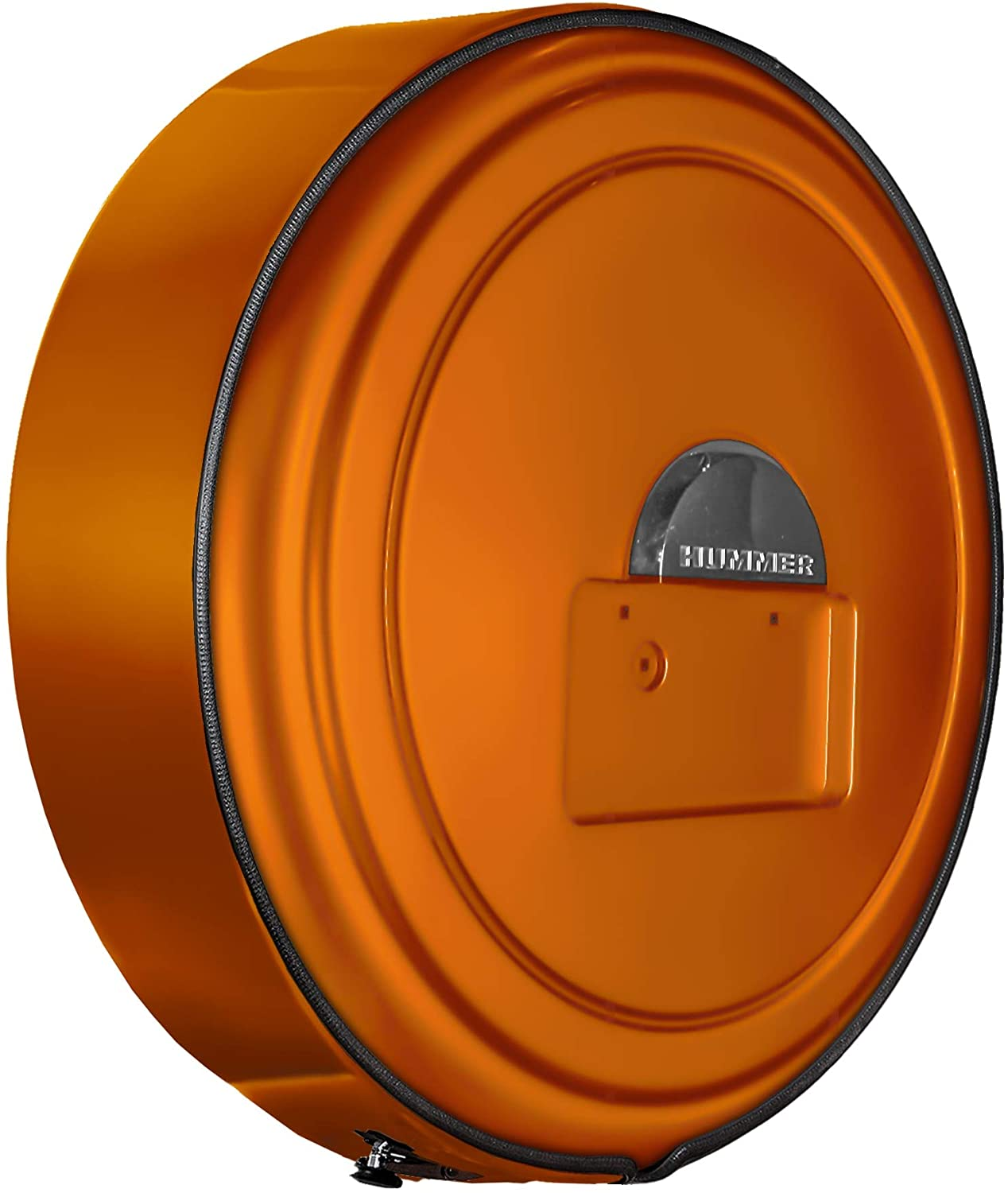 Boomerang Hummer H2 (05-10) - Color Matched MasterSeries Hard Tire Cover - (Color Matched Plastic Face & Stainless Steel Ring) - Fusion Orange