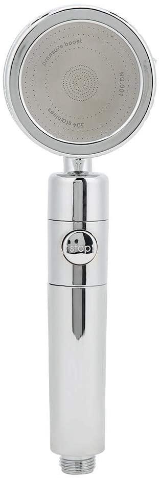 Ymiko G1/2in Shower Head Detachable Handheld with 3 Modes Function Spray Handheld Showerheads, 30 Percent Water Saving