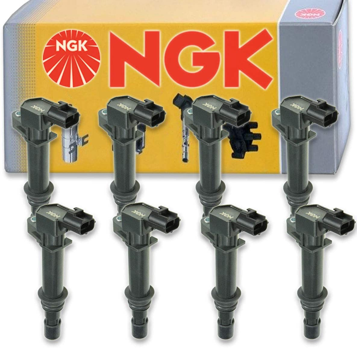 8 pcs NGK Ignition Coil for 2002-2007 Dodge Ram 1500 4.7L V8 - Spark Plug Tune Up Kit