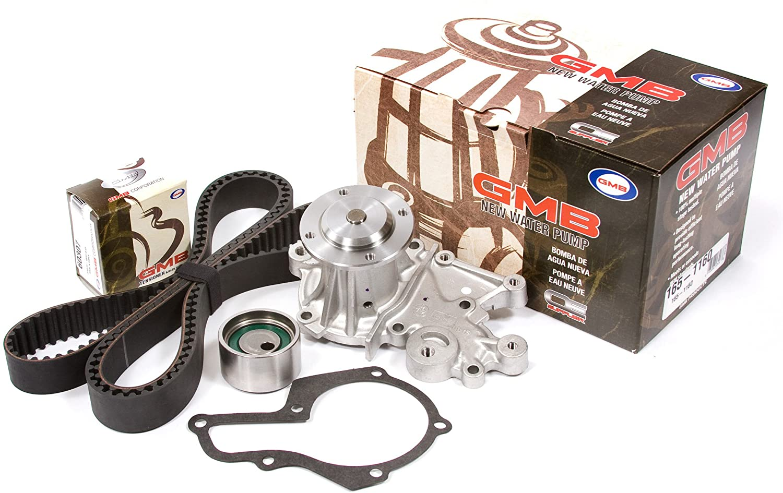 Evergreen TBK272WP Compatible With 95-97 Suziki Swift GLX & Geo Metro SOHC G13K Timing Belt Kit GMB Water Pump