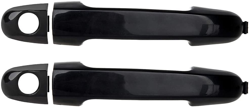 ECCPP Door Handles Exterior Outside Outer Front Driver Passenger Side for 2006-2012 for Hyundai Elantra Black(2pcs)