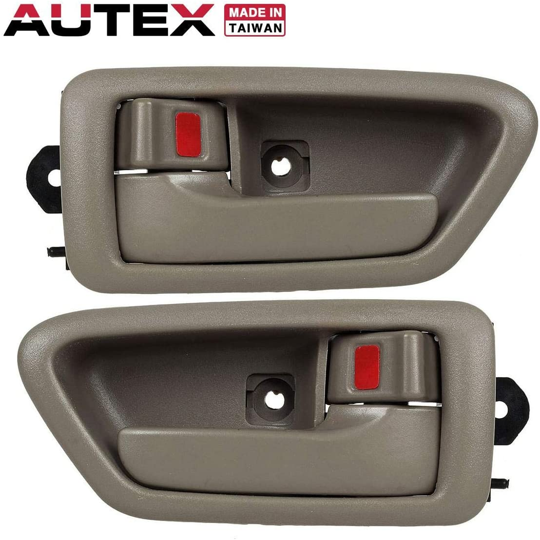 AUTEX Door Handle 2pcs Beige Interior Front/Rear Left Right Side Compatible with Camry 1997 1998 1999 2000 2001 Door Handle Driver Passenger Side 91005 91004 91009 91008